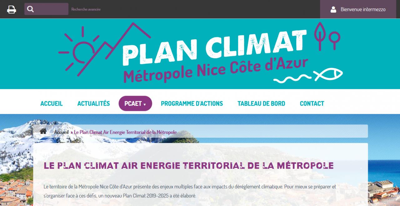 Page d'accueil de Linea21 pour Nice Côte d'Azur